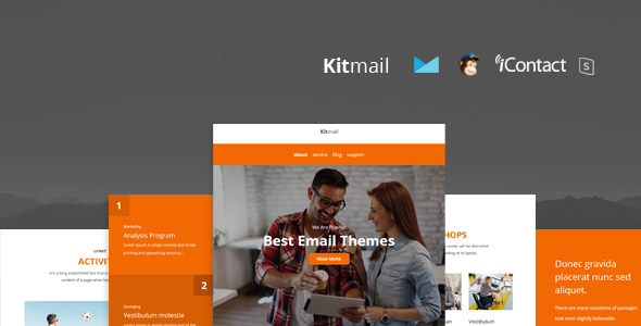 Image of Kit Mail - Responsive E-mail Template + Online Access