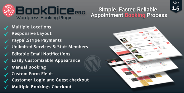Appointment Booking and Scheduling for Wordpress-BookDice - CodeCanyon Item for Sale
