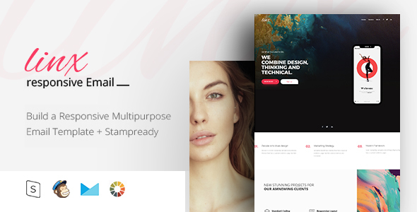 Linx - Responsive Email + StampReady Builder - Email Templates Marketing
