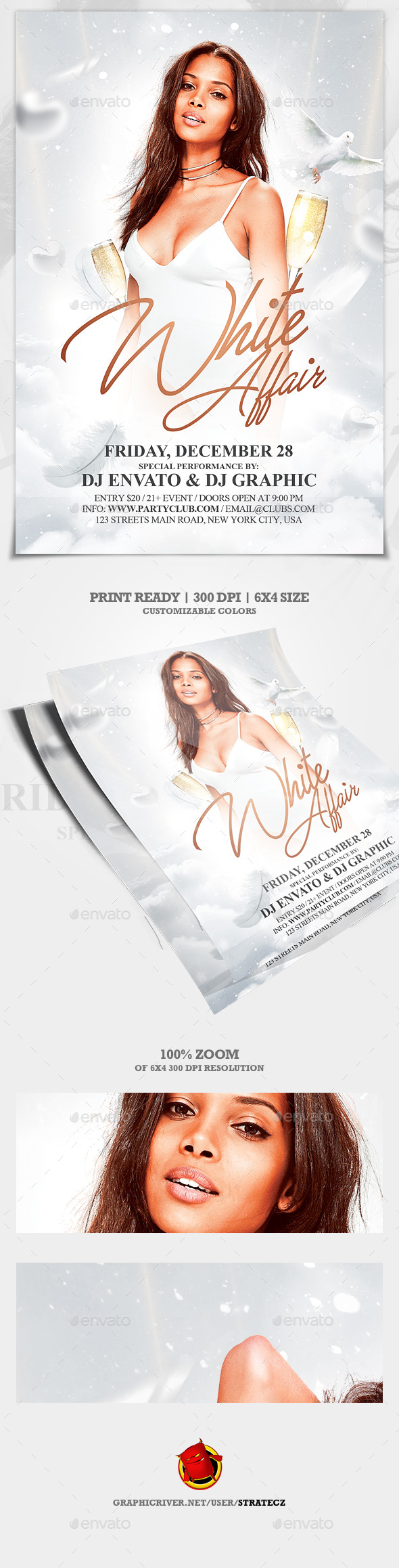 White Party Flyer - Events Flyers