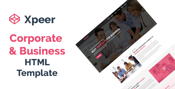 Image of Xpeer - Corporate and Business One Page HTML Template