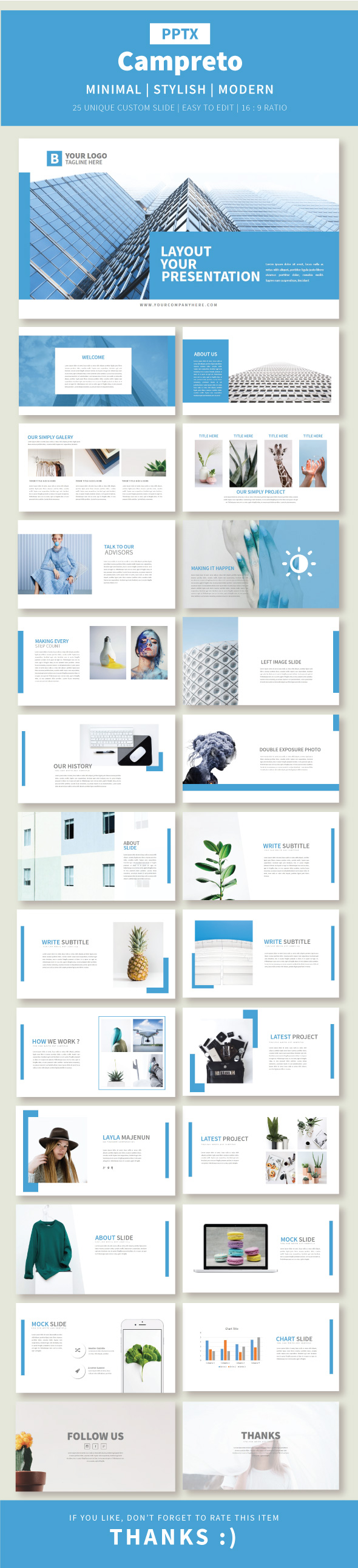 Campreto Presentation Template - Business PowerPoint Templates