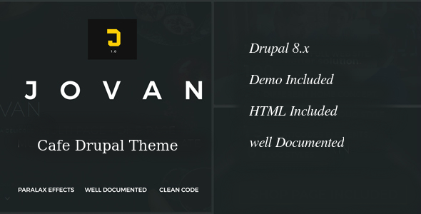 Jovan | Cafe & Restaurant Drupal 8 Theme