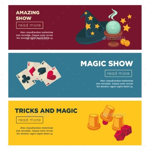 Magic Show with Amazing Tricks Internet - Miscellaneous Vectors