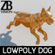 Lowpoly Dog 002 - 3DOcean Item for Sale