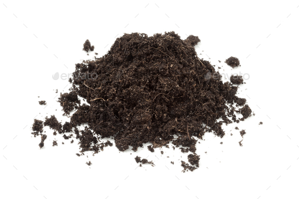 Heap of black soil - Stock Photo - Images