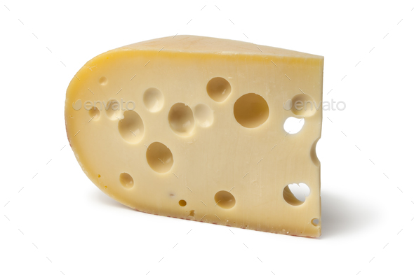 Piece of emmenthaler cheese - Stock Photo - Images