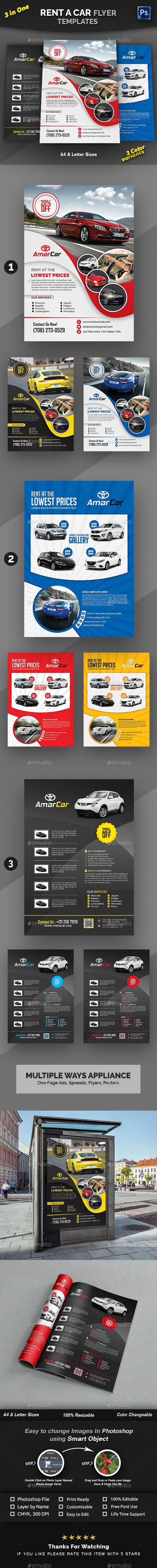 Rent a Car Flyer Bundle - Commerce Flyers
