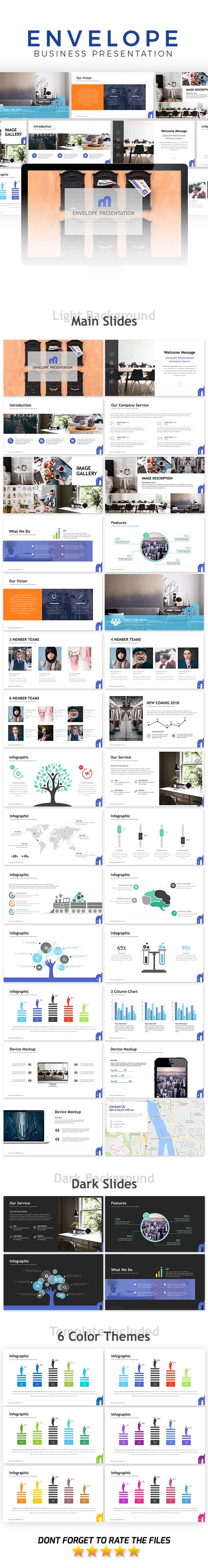 Envelope Presentation Template - Business PowerPoint Templates