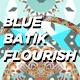 Blue Batik Flourish - VideoHive Item for Sale