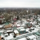 View From the Copter of the Village in Winter - VideoHive Item for Sale