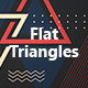 Abstract Flat  Triangles Backgrounds