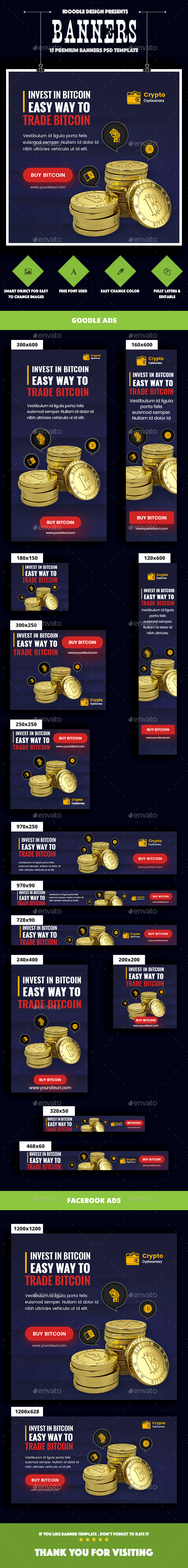 Cryptocurrency Banners Ads