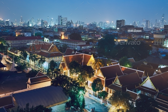 Bangkok at the night - Stock Photo - Images