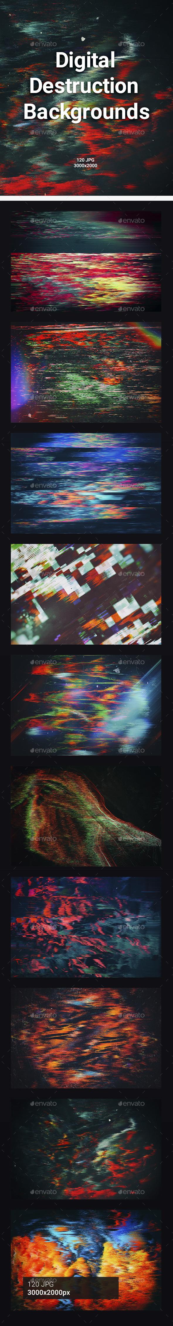 Digital Destruction Backgrounds - Abstract Backgrounds
