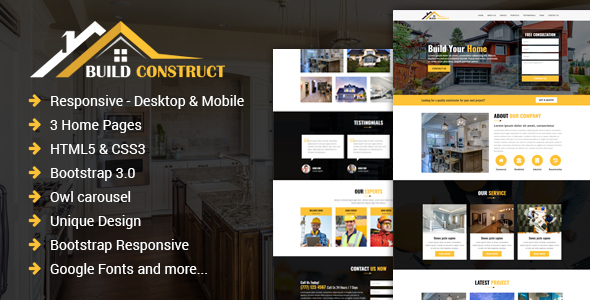 Build Construct - One Page Construction HTML Template