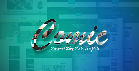 ThemeForest Comic Personal Blog PSD Template 20949182