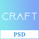 Craft App Landing PSD Template - ThemeForest Item for Sale
