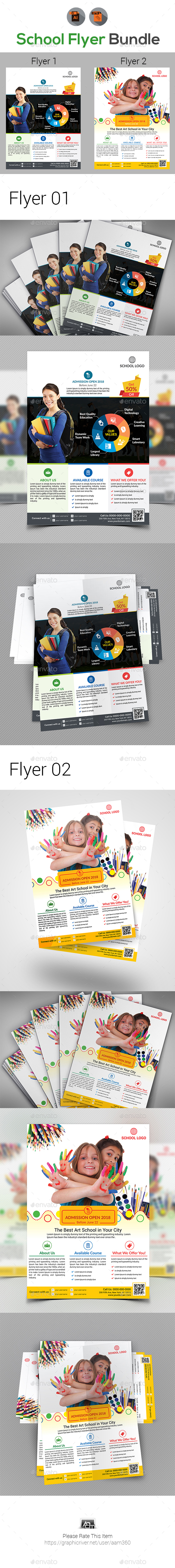 Education | School | Admission Flyers Bundle - Flyers Print Templates
