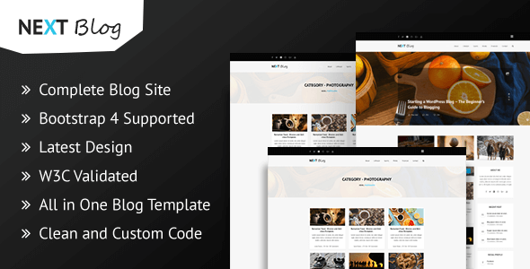 ThemeForest Next Blog Blogging HTML Template 21112938