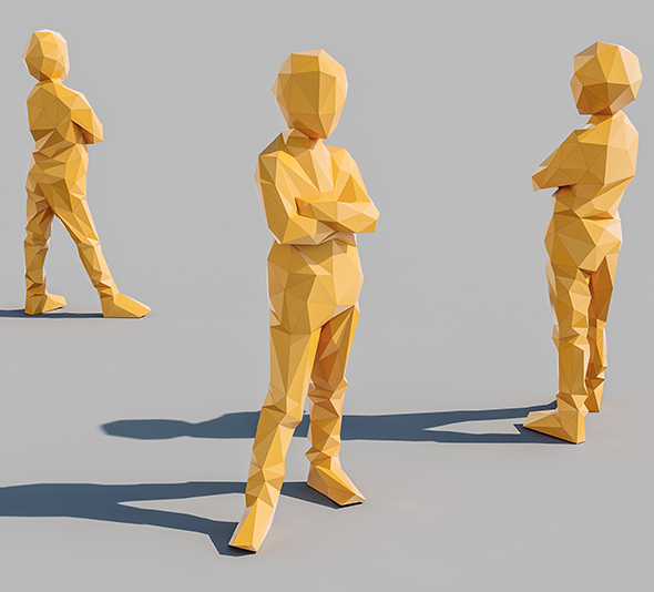 Lowpoly Kid 012 - 3DOcean Item for Sale