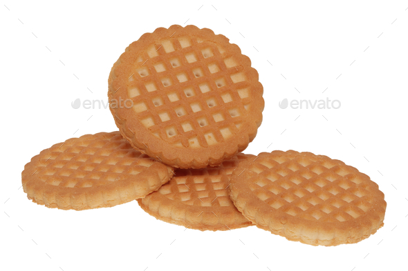 Group of cookies on a white background - Stock Photo - Images