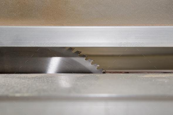 Detail of circular saw blade - Stock Photo - Images