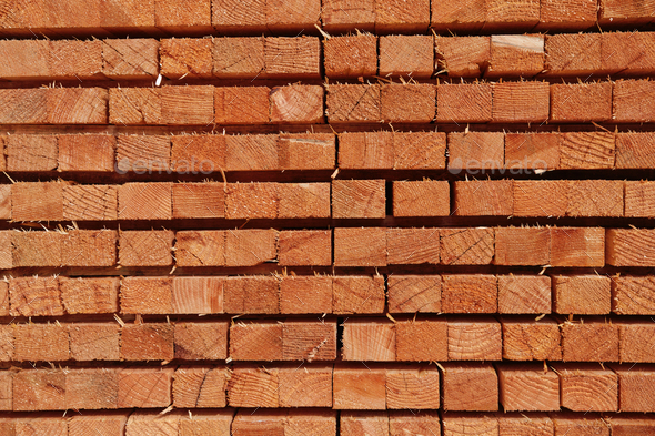 Closeup pattern of cutting wood stack for background - Stock Photo - Images