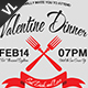Valentine Dinner Poster / Flyer V01 - GraphicRiver Item for Sale