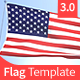 Flag Template Cinema 4D - VideoHive Item for Sale