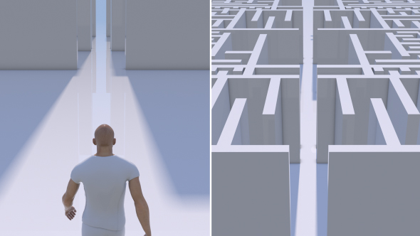 VideoHive Man Entering Into a Maze 21213714