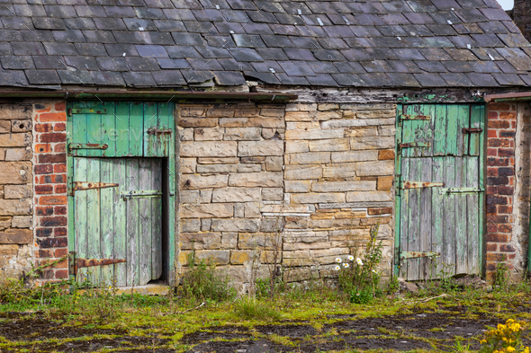 Northumberland Stone Barn - Stock Photo - Images