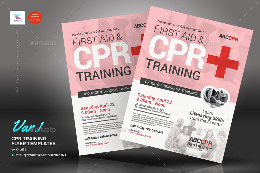 CPR Training Flyer Templates By Kinzi GraphicRiver - First time home buyer flyer template