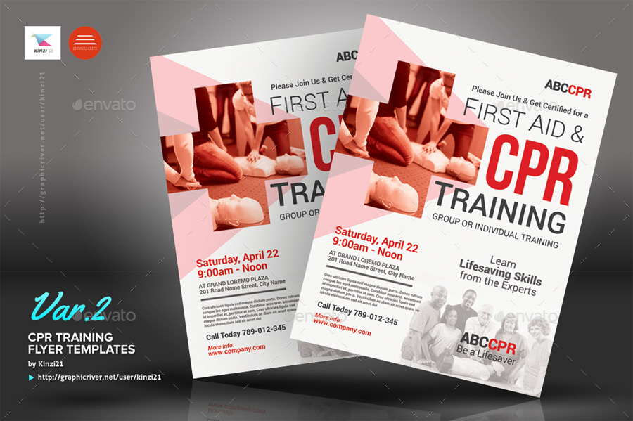 Cpr Training Flyer Templates By Kinzi21 Graphicriver
