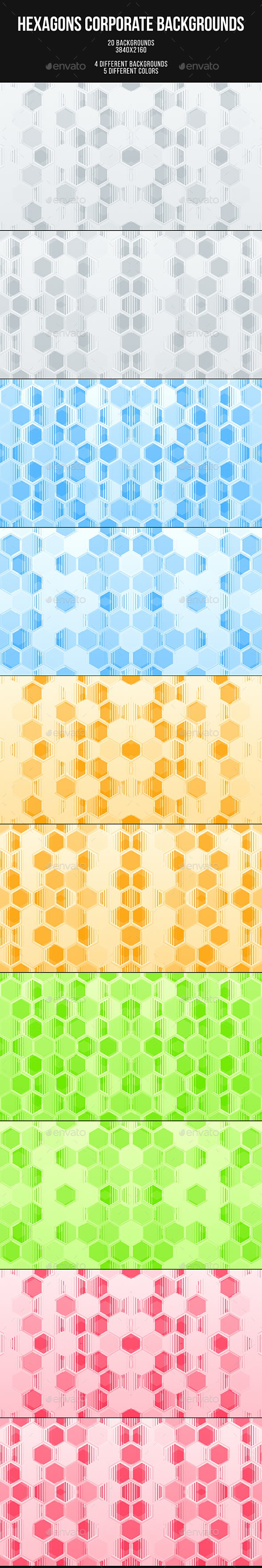 Hexagons Corporate Backgrounds - Abstract Backgrounds