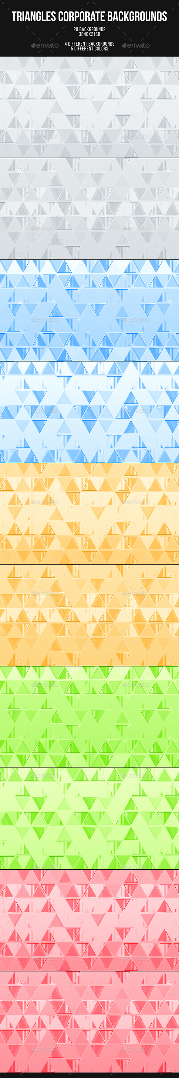 Triangles Corporate Backgrounds - Abstract Backgrounds