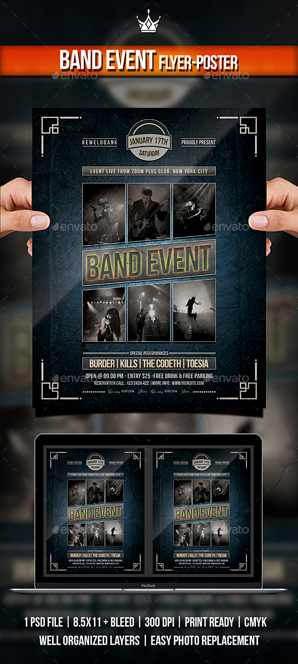 Band Event Flyer / Poster - Concerts Events