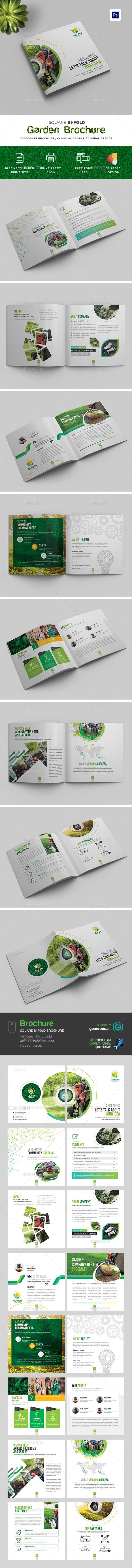 Garden Square Bi-Fold Brochure - Brochures Print Templates