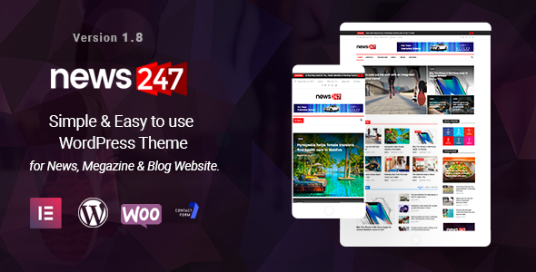 News247 - News Magazine WordPress Theme - News / Editorial Blog / Magazine