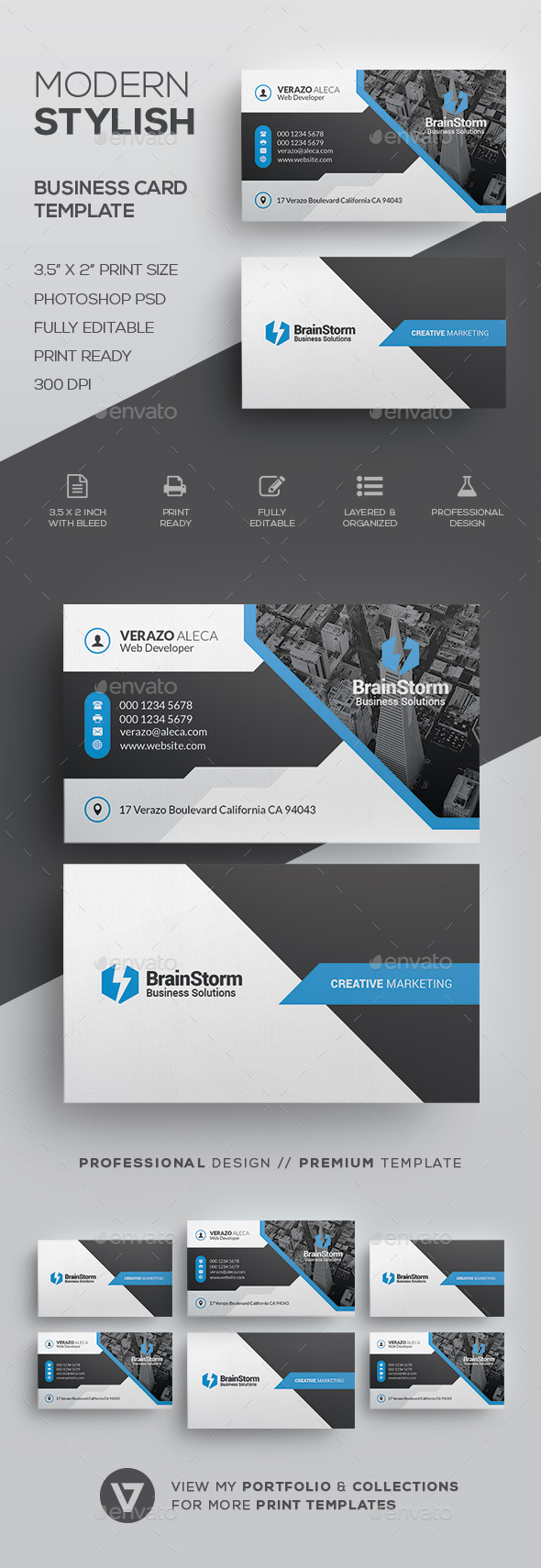 Creative Corporate Business Card Template - Corporate Business Cards