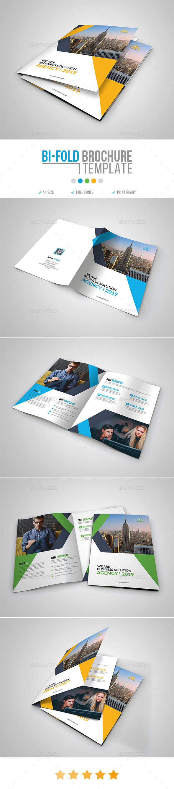 Corporate Bi-Fold Brochure Template 15 - Corporate Brochures