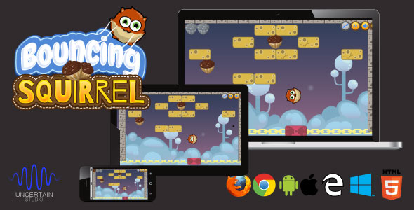 CodeCanyon Bouncing Squirrel HTML5 Game 21214161