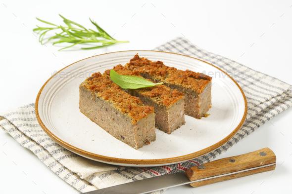pork and liver meatloaf - Stock Photo - Images