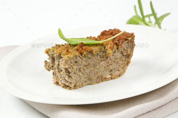 pork and liver meatloaf - Stock Photo - Images