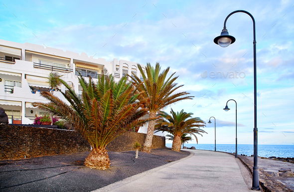 Costa Teguise, Canary Islands, Spain - Stock Photo - Images