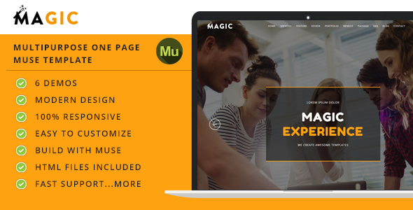 Magic - One Page Multipurpose Muse Template