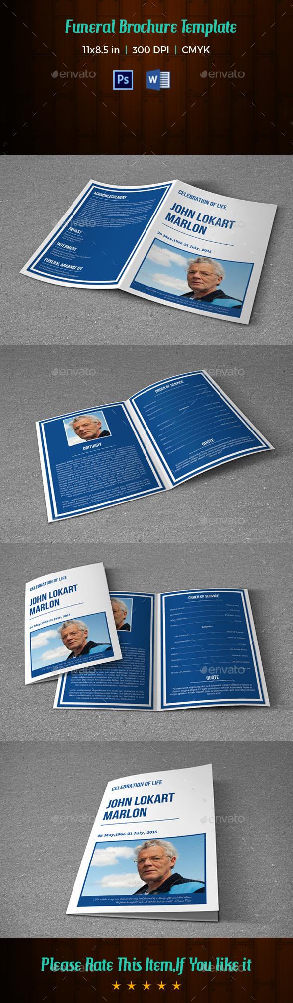Funeral Template V209 - Informational Brochures