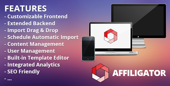 Affiligator | Affiliate Webshop Management System