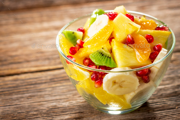 Fresh fruit salad - Stock Photo - Images