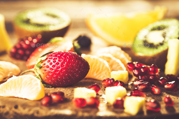 Fresh fruits mixed - Stock Photo - Images